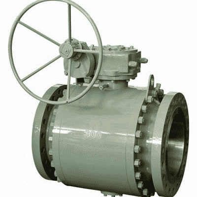 trunnion mounted ball valve flanged carbon steel gear operated